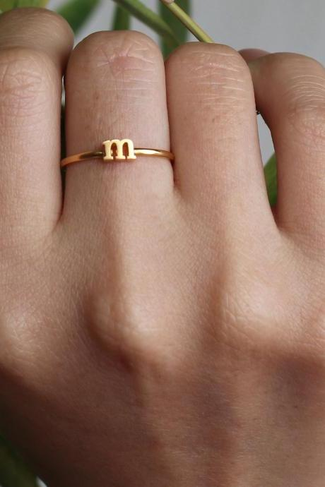 Stacking Ring - Initial Name Ring - Birthday Gifts